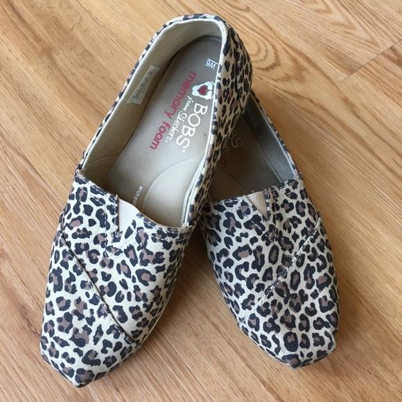 Skechers Shoes   Skechers Bobs Leopard